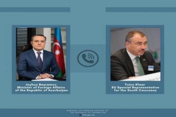 Состоялся телефонный разговор между Джейхуном Байрамовым и специальным представителем ЕС