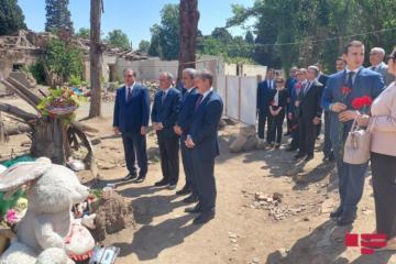 Генпрокурор Верховного Суда Турции посетил территорию в Гяндже, подвергшуюся ракетному обстрелу со стороны армян -[color=red]ФОТО[/color]