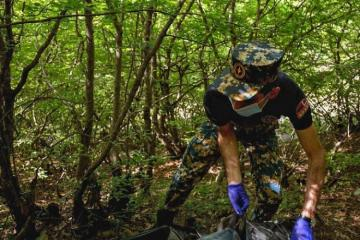 На освобожденных от оккупации территориях обнаружены останки еще 4 армянских военнослужащих