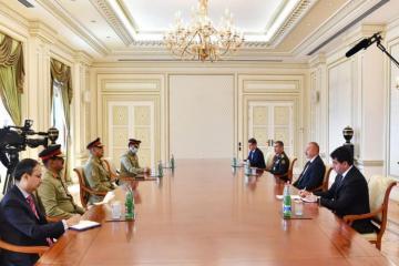 Prezident İlham Əliyev Pakistanın Quru Qoşunlarının komandanını qəbul edib