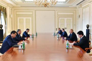 Azerbaijani President receives Deputy PM of Kazakhstan