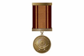 """Silahlı Qüvvələrin 731 hərbçisi """"Vətən uğrunda"""" medalı ilə təltif edilib"""