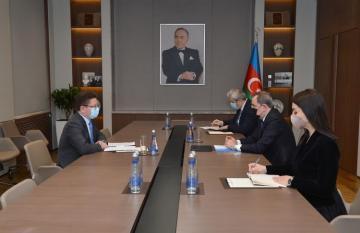 Джейхун Байрамов встретился с главой бакинского офиса Совета Европы