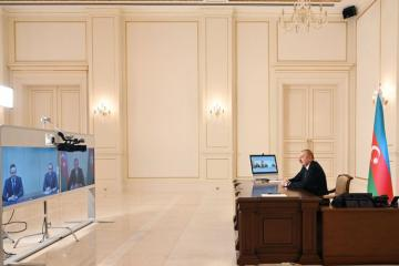 President Ilham Aliyev received in a video format Hungarian Minister of Foreign Affairs and Trade