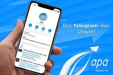 """APA-nın """"Telegram"""" kanalına abunə olun"""