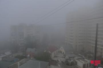 В Баку туманная погода сохранится до завтрашнего дня