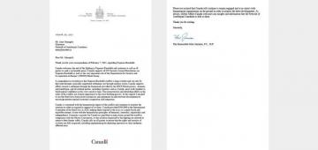 Canadian Foreign Minister responded to letter of our compatriots