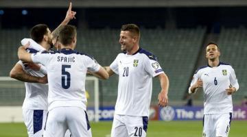 Сборная Азербайджана проиграла Сербии в отборе ЧМ-2022