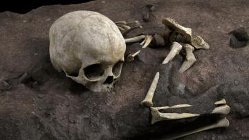 В Африке найдена древнейшая могила человека