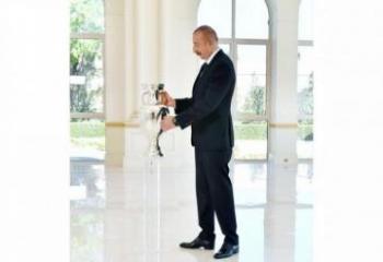 Кубок Евро-2020 передан президенту Ильхаму Алиеву