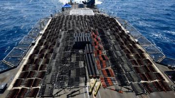 Крейсер США изъял груз российского и китайского оружия в Аравийском море