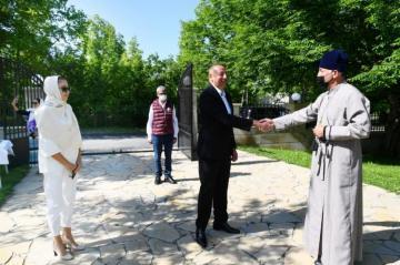 Президент Ильхам Алиев посетил Албанскую церковь Святой Девы Марии в поселке Нидж Габалинского района - [color=red]ОБНОВЛЕНО[/color]