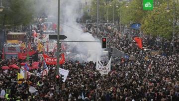В беспорядках на демонстрации в Берлине пострадали 93 полицейских