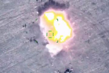 Кадры уничтожения вражеской военной техники в ходе Отечественной войны – [color=red]ВИДЕО[/color]