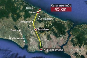 В Турции назвали дату начала строительства нового канала «Стамбул»