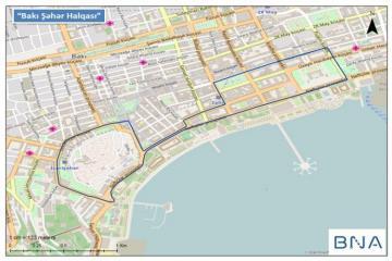 В Баку приостановлено движение транспорта на улицах в районе трассы «Формулы-1»
