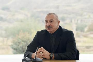 """Prezident: """"Elə bir yeni Azərbaycan, yeni Qarabağ, yeni Zəngəzur quracağıq ki, bütün dünya bizə qibtə edəcək"""""""