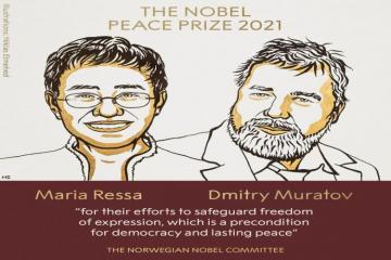 2021 Nobel Peace Prize awarded to Maria Ressa, Dmitry Muratov
