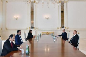 President Ilham Aliyev received Turkish minister of environment and urbanization