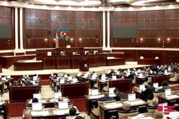"""Meeting of Azerbaijani Parliament kicks off, draft law """"On Independence Day"""" being discussed"""