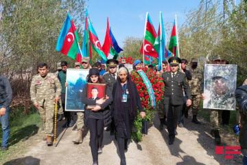 Farewell ceremony being held in Goranboy for serviceman martyred in the Patriotic War