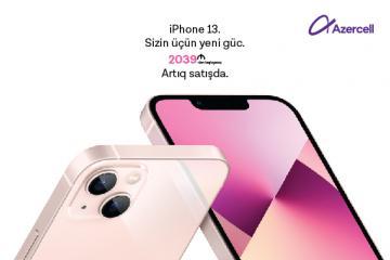 """İnternet hədiyyəli """"iPhone 13"""" smartfonları artıq """"Azercell Eksklüziv"""" mağazalarında"""