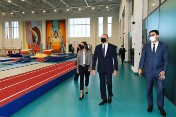Президент и первая леди ознакомились с условиями, созданными в новом тренировочном здании Национальной гимнастической арены -[color=red]ОБНОВЛЕНО-ВИДЕО[/color]