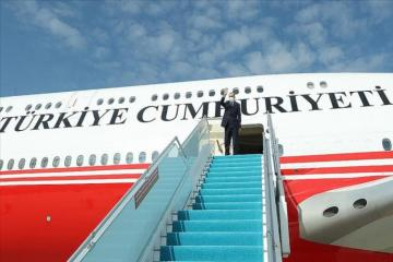 Turkish President Recep Tayyip Erdogan's plane landed Fuzuli Airport - [color=red]UPDATED[/color]