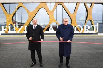 С участием президентов Азербайджана и Турции состоялось открытие Физулинского Международного аэропорта