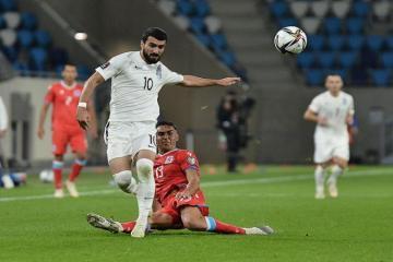 Сборная Азербайджана завоевала свое первое очко в отборе ЧМ-2022