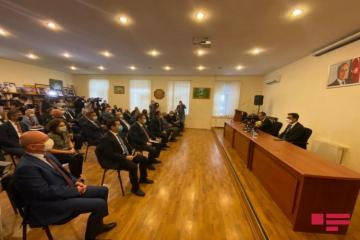 Minister of Youth and Sports Farid Gayibov presented to collective