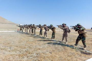 """Special forces carried out shooting using various weapons during the """"Three Brothers - 2021"""" international exercises  - [color=red]VİDEO[/color]"""