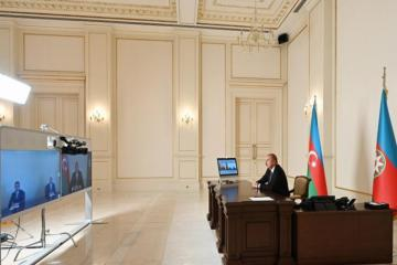 President Ilham Aliyev receives newly-appointed heads of EPs of Jalilabad and Shamkir in video format