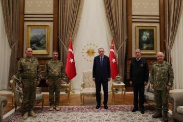 Президент Турции принял Закира Гасанова и Керима Велиева