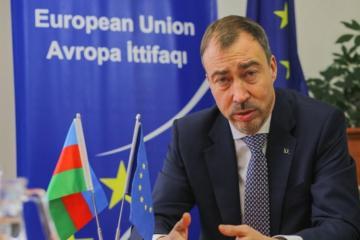 EU Special Representative for South Caucasus visits Azerbaijan's Aghdam