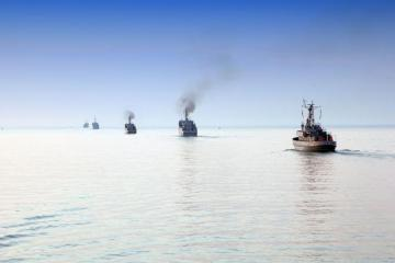 Volley fires opened from warships on the Remembrance Day