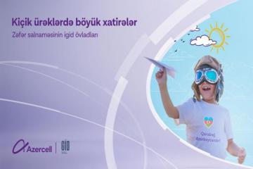 """""""Azercell""""in şəhid övladları üçün uzunmüddətli reabilitasiya proqramı uğurla həyata keçib"""