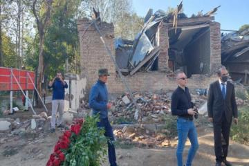 Украинские журналисты посетили в Гяндже места, подвергшиеся ракетным обстрелам со стороны Армении-[color=red]ФОТО[/color]